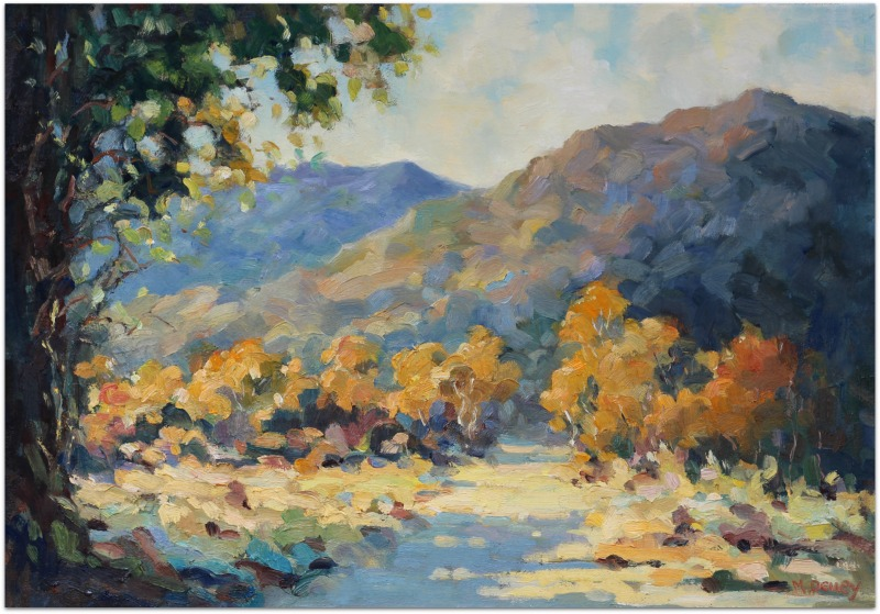Autumn Tapestry oil painting by Malcolm Dewey