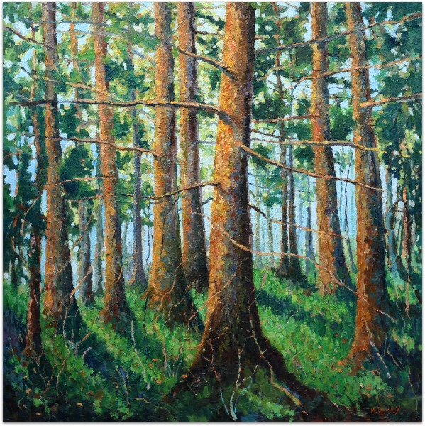 Deep in the Forest oil painting by Malcolm Dewey