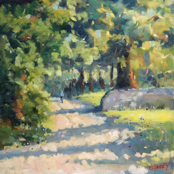 Forest Walk oil painting by Malcolm Dewey