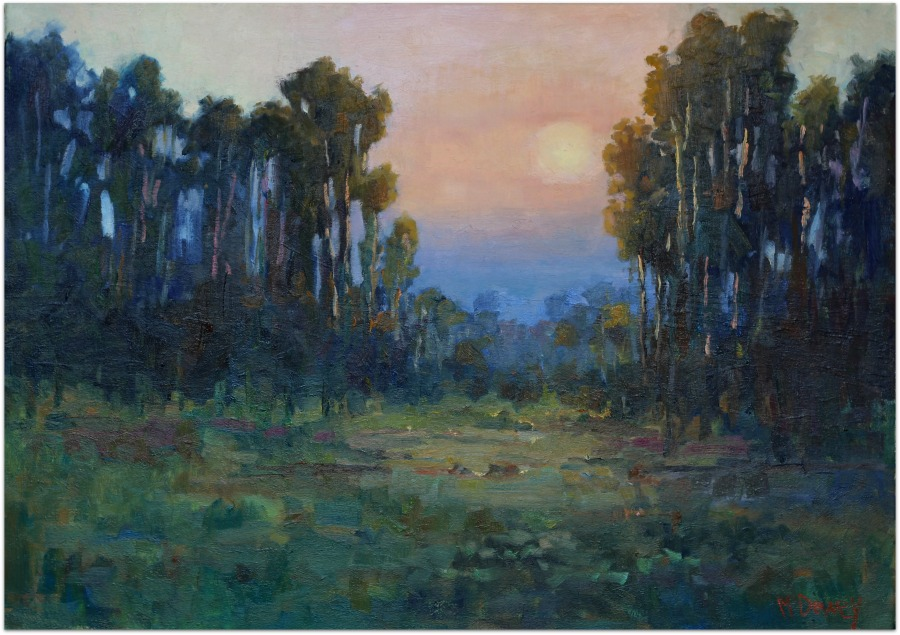 Gentle Sunset oil painting by Malcolm Dewey