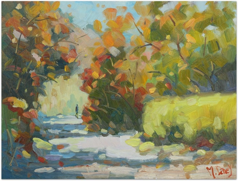 Greyton Autumn oil painting by Malcolm Dewey