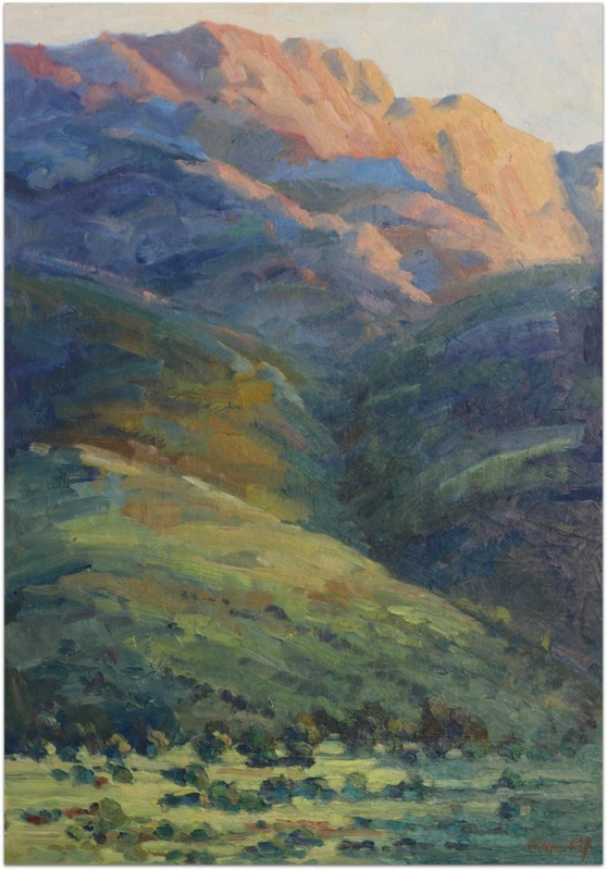 Overberg Morning Light oil painting by Malcolm Dewey
