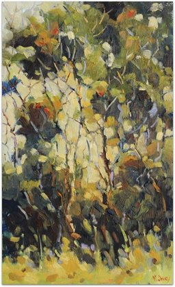 Golden Hour Trees oil painting by Malcolm Dewey