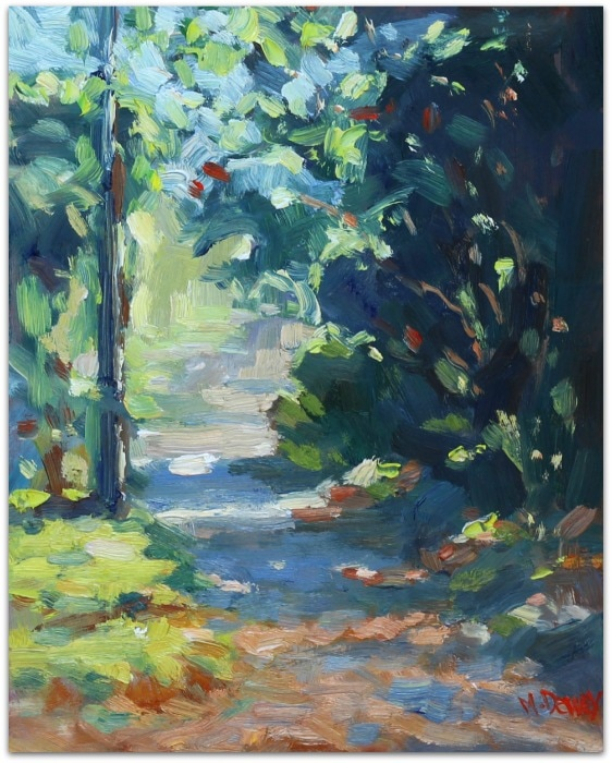 Summer Lane oil painting by Malcolm Dewey