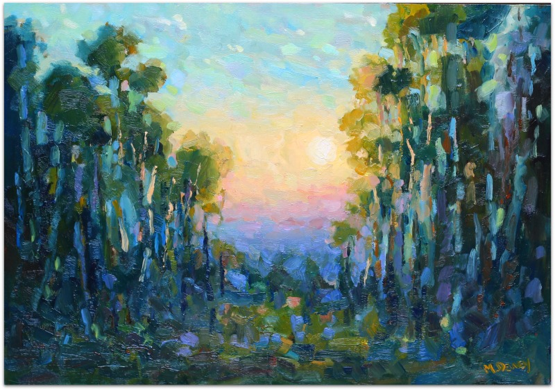 Sunset Splendor oil painting by Malcolm Dewey