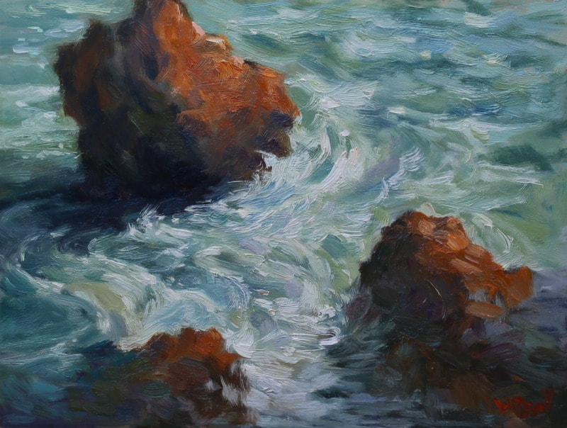 Tidal Motions oil painting by Malcolm Dewey