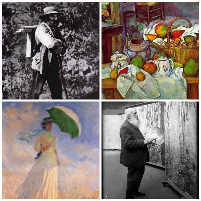 Cezanne and Monet Photos