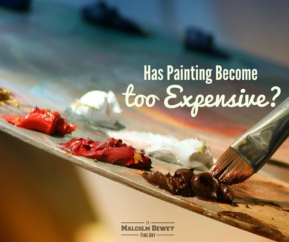 has painting become too expensive?