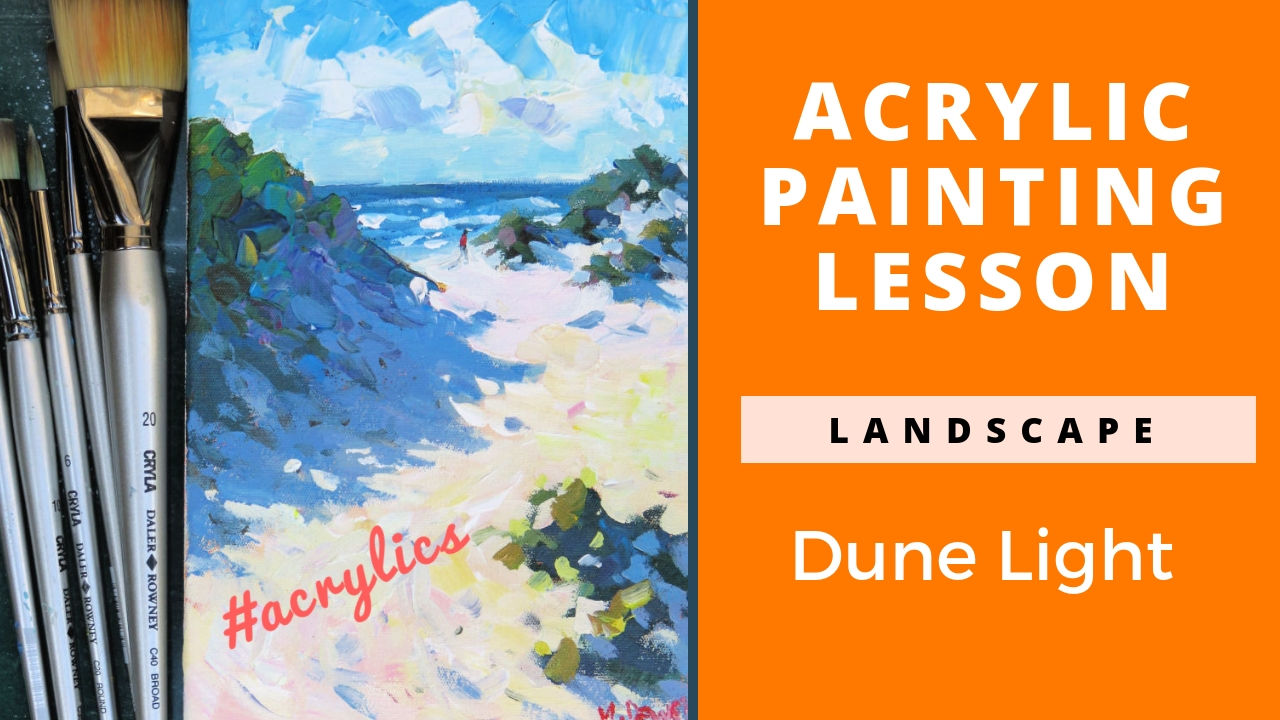 How to Paint a Powerful Beach Scene in Acrylics
