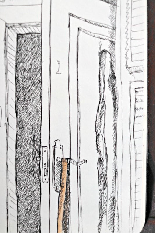 Journal drawing by Malcolm Dewey