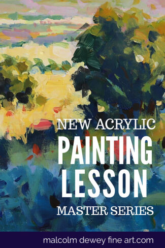 Acrylic painting tips for better landscape painting.