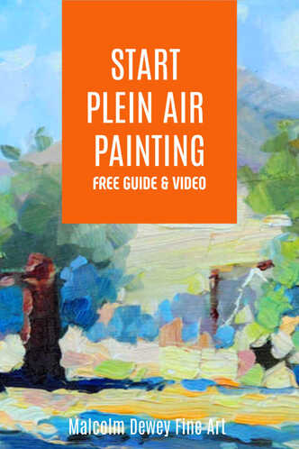 How to easily start your first plein air painting.