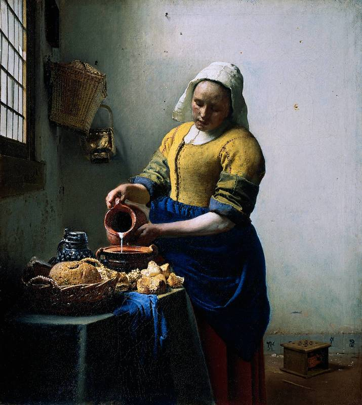 The Milkmaid by Dutch master, Johannes Vermeer